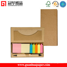 Office and School Supply Custom Sticky Note Pad with Wooden Case