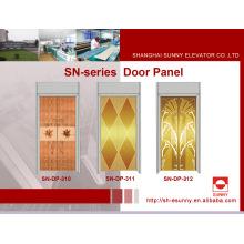 Panel de la puerta del elevador con superficie del espejo (SN-DP-310)