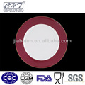 A051 Plato de cena rojo de las porcelanas de la etiqueta de la etiqueta del favorable a la ecología para la boda
