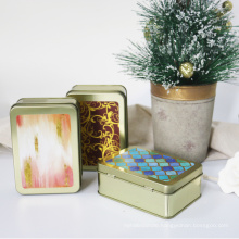 paraffin soy wax scented candle in tin box with customizable logo and design