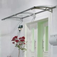 Door Canopy with Unbreakable Polycarbonate Filling and Integrated Aluminum Gutter