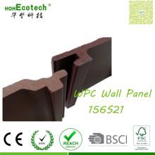 O revestimento de painel intertravado fornece o revestimento de madeira da parede do olhar WPC