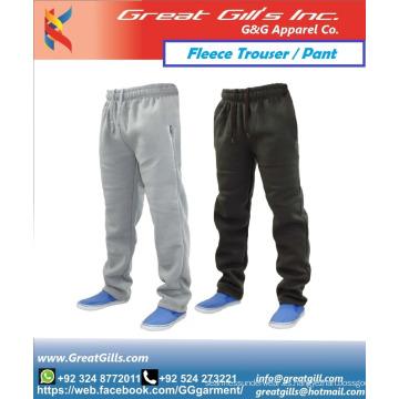 Pantalón y pantalón de lana de tela cálida de invierno con corredores de estilo personalizado