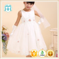 kids party dress wedding dress appliqued flower dress