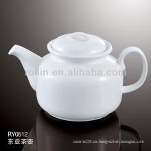 Sano duradero de porcelana blanca horno seguro tetera con tapa