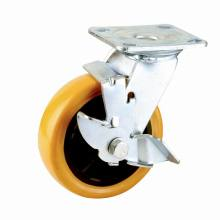 Double Ball Bearing Side Brake Type PU Caster (KHX4-H9)