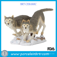 Wild Wolf Resin Animal Figurine