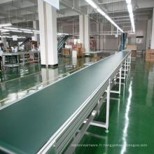 Convoyeur à bande de PVC de cadre en aluminium de haute qualité