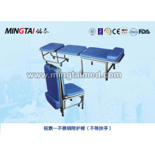 Stainless steel accompany chair (without handrails)