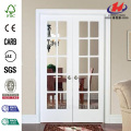 JHK-G22 MDF Wood Sliding Bathroom Interior French Doors