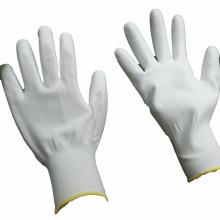 NMSAFETY novo certificado 3121X pu revestido de luva branca