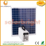 Solarbright new portable small house emergency 30W solar power rechargeable mini led home lighting solar system for home