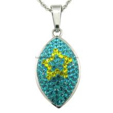 Stein ovale Halskette kundenspezifische Anhänger