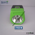 3W Cordless Mining Cap Lamp Work with Solar Panel Charger