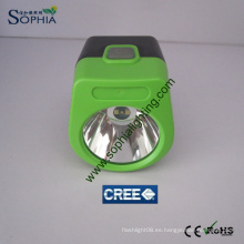 Lámpara de tapa de minería inalámbrica de 3W con cargador de panel solar
