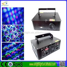 3W RGB full color animação grating luz laser / Natal luz laser / DMX512