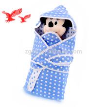 Heißer Verkauf weiße Farbe Custom Organic 100% Baumwolle Baby Handtuch mit Kapuze