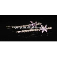 Forma de estrella 2015 Moda Cristal Bobby pin Rhinestone Barrette