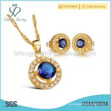 18k Golddiamant-hängende Halskette, Kupferhalsketten-Kettenschmucksachen