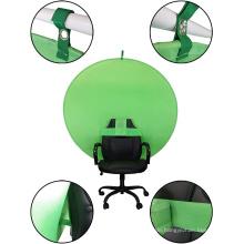Stuhl Tragbarer Webcam-Hintergrund mit grünem Bildschirm