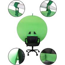 Toile de fond écran vert webcam portable chaise