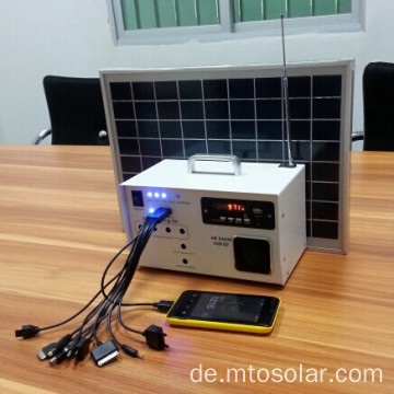 10W solar-Home-kits mit UKW-radio