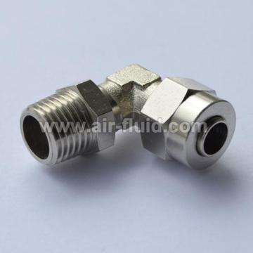 90° Tapered Male Elbow N.P Brass Push-On Tubing Fittings