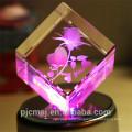 nouveau produit ! Cristal laser 3D rose pour les cadeaux de décoration