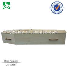 madeira Cruz e puxadores de madeira para o caixão de papelão
