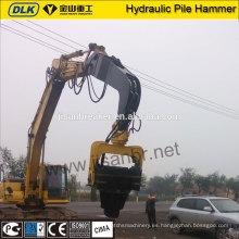 conductor hidráulico del martillo vibratorio de la pila de madera de la piedra de la hoja para el excavador