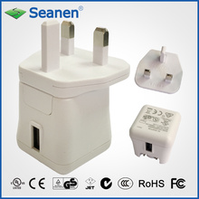 5VDC 2A White Color Travel Charger with UK/GS AC Pin
