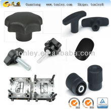 plastic knobs within screw nut injection moulding and injection mould