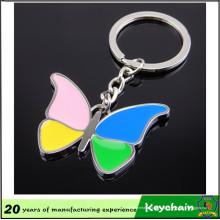 Chaveiro personalizado da borboleta do presente relativo à promoção feito sob encomenda