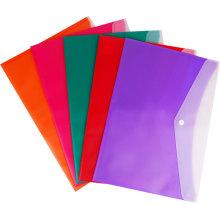 Bolsa de archivo con cierre de doble color