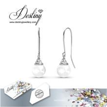 Destin bijoux cristaux de Swarovski crochet boucle d'oreille perle