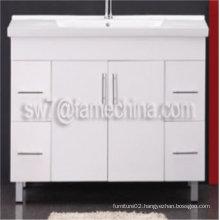 High Gloss Wall Mounted MDF Bathroom Laundry Tub Cabinet