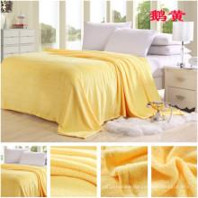 180*200cm Yellow Super Soft Flannel Blanket