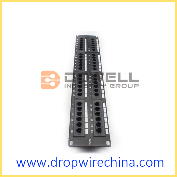 Cat 5e Patch Panels,48 Port RJ45 unshielded