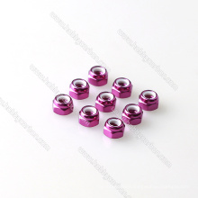 Colorful aluminum nuts M3 M4 M5 almunim nylock nuts