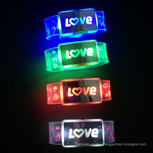 Valentine Day Custom Love Letter Led Nylon Flash Wristband