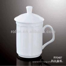 Mug 280 ML avec couvercle, tasse en céramique avec couverture, tasse avec couverture en gros