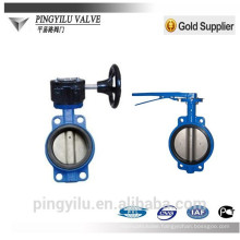 dn150 ductile iron wafer butterfly valves