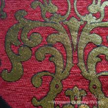 Покрашенная пряжа Синеля полиэфира жаккарда ткани для диванных чехлов