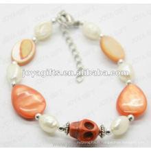 Fashion 2012 Joya Orange Skull Anklet