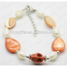 Fashion 2012 Joya Orange Skull Anklet