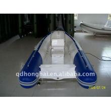 barco de fibra de vidrio rígida rib420 de ce con motor 30hp