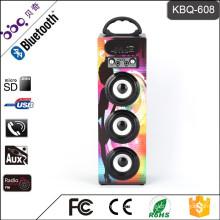 BBQ KBQ-608 15W 1200mAh 2017 Hot Selling Professional Portable Karaoke Wooden Speaker Box