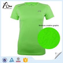 Lady Sport Shirt Trockener Sitz T-Shirts Sportbekleidung