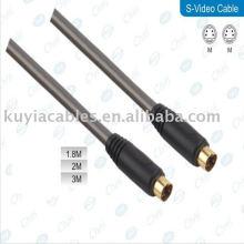 Füße 4 Pin S-Video Kabel Stecker auf Stecker Kabelkabel Gold überzogen für DVD HDTV
