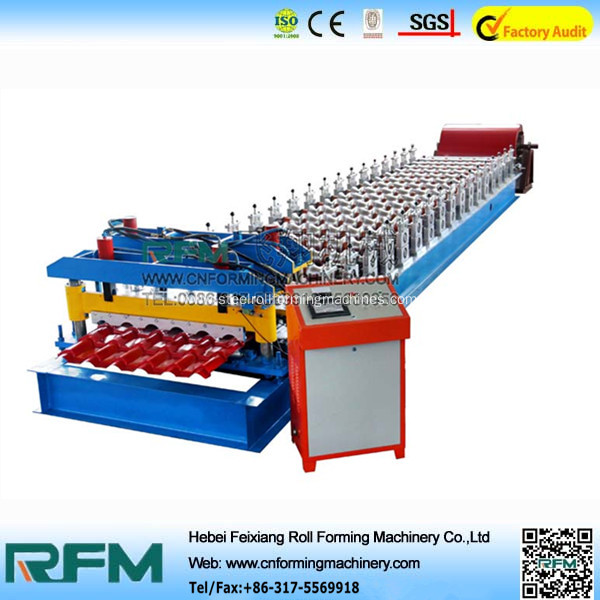 Colored glazed tile roof machine